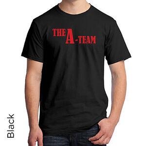 New The A Team Retro TV Show Hannibal B.A Men/'s Black T-Shirt Size S to 3XL