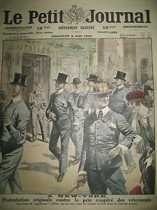 ETATS-UNIS-NEW-YORK-GENTLEMEN-MANIFESTATION-TARIF-VETEMENT-LE-PETIT-JOURNAL-1920