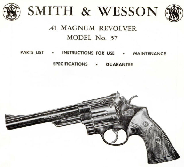 smith wesson 41 magnum revolver manual model 57 ebay rh ebay com Smith and Wesson 1911 45 Smith and Wesson 5906