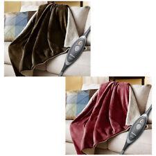 Holmes Oversized Velvet Sherpa Heated Electric Throw Blanket