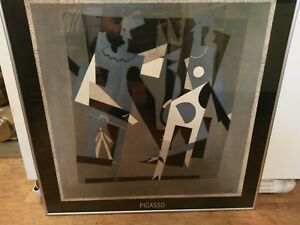 Vintage-Full-Size-Cataloged-Picasso-Print-in-Professional-Frame
