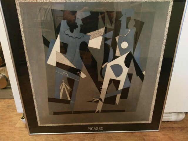 Vintage Full Size Cataloged Picasso Print in Professional Frame