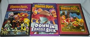 3-FRAGGLE ROCK DVDs-Where it All Began-Dance Our Cares Away-Down in...Jim Henson