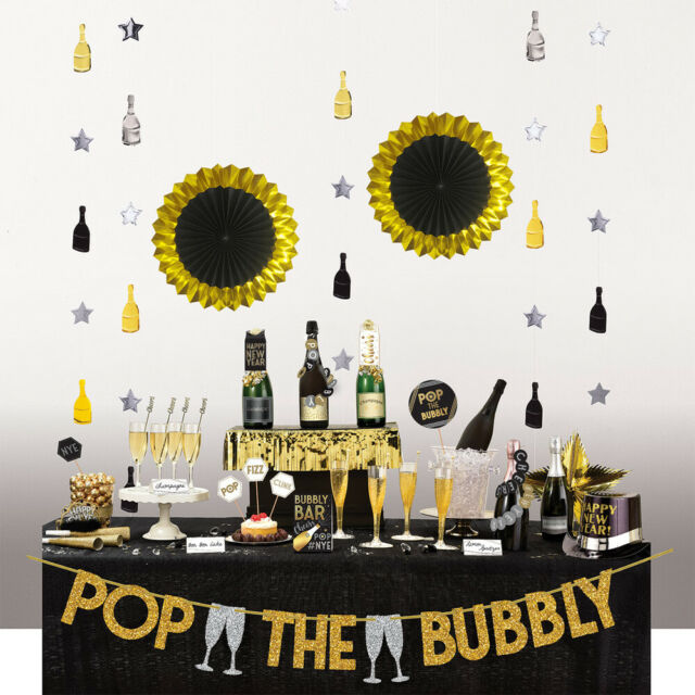 Happy New Years Eve Table Decorating Set Bar Kit Party ...