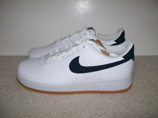 Nike Air Force 1 One Low White Obsidian Gum Ci0057-100 Mens Size 13