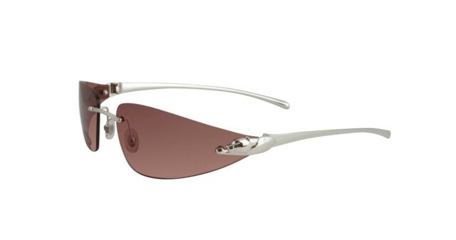 7a07aeb350f4 NEW CARTIER PINK PANTHER SUNGLASSES T8200632 PLATINUM FRAME PINK LENS FRANCE