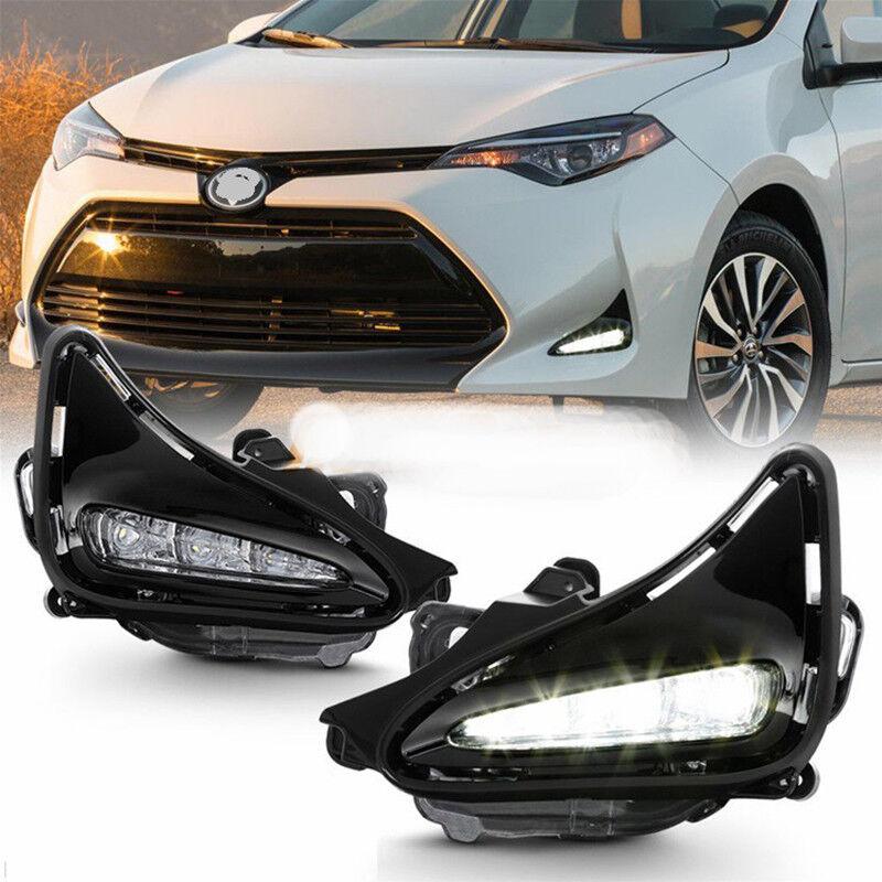 Led Drl Fog Light For Toyota Corolla 2017 2018 2019 L Xle
