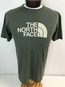The-North-Face-Big-Logo-Graphic-Heather-Green-Crewneck-T-Shirt-Mens-Large-50-50