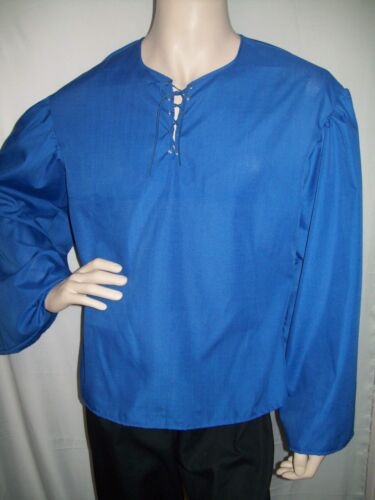 New Handmade Renaissance Men/'s Peasant Shirt Size Extra Large Various Colors