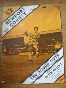 10-11-1978-Newport-County-v-Wigan-Athletic-1st-League-Season-Creased-Folded