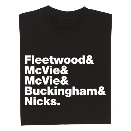 FLEETWOOD MAC BAND LINE UP MUSIC FESTIVAL T SHIRT TEE ALL SIZES
