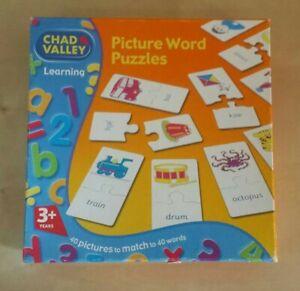 Palabra-de-imagen-Rompecabezas-Chad-Valley-juego-educativo