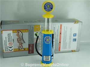 OLDSMOBILE-PETROL-GAS-PUMP-MODEL-1-18-SCALE-VISIBLE-BLUE-YELLOW-EXAMPLE-T312Z