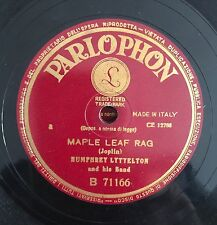 "RARE 78RPM 10"" PARLOPHON HUMPHREY LYTTELTON AND HIS BAND MAPLE LEAF RAG/MEMPHIS"