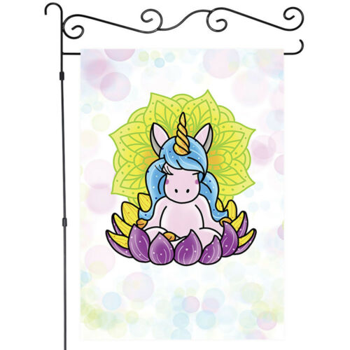 Welcome Unicorn and Cute Animals Decor Garden Flag House Flags Home Yard Banner
