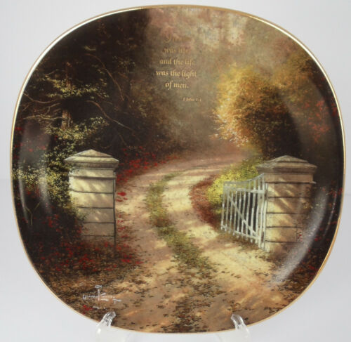 In Him Was Life Bradford Exchange Collector Plate With COA