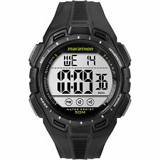 Timex TW5K94800, Men's Marathon Black Resin Watch, Indiglo, Alarm, TW5K94800M6