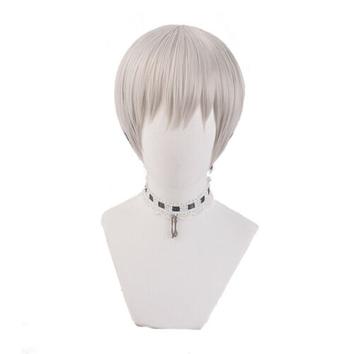 Anime Uzaki-chan wa Asobitai Uzaki Hana Cosplay Wig Women Short Gray Hair Wigs