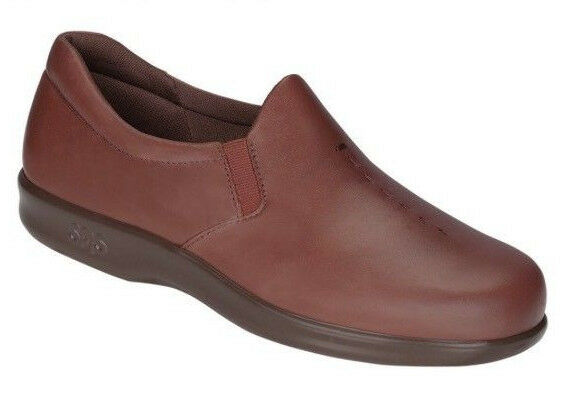 benvenuto a scegliere New New New SAS Viva Teak Marrone Leather Tripad Slip On Loafer scarpe donna Sz 7.5 N  153  all'ingrosso economico e di alta qualità