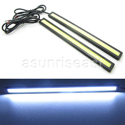 2 x White Super Bright COB Car LED Light DRL Fog Driving Lamp Waterproof 12V 6W