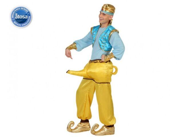 Costume Man Genie Lamp XL Adult Drawing Cartoon Aladdin Aladdin New