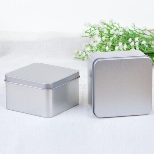 1pcs Mini Metal Storage Box Square Iron Tin Boxes Gift BoxesBDAU