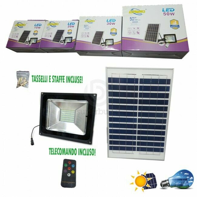 Dawei Foco Faro con LED Panel Solar 20w Crepuscular con Mando Ca