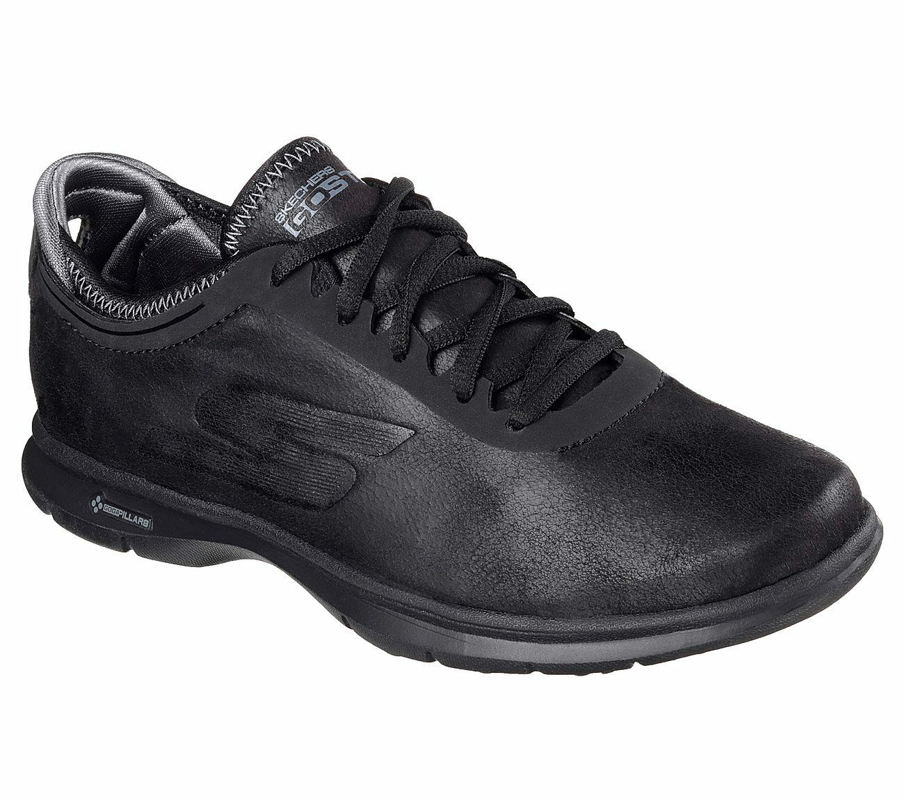 NEW Womens 7M Skechers GO STEP - Superior Shoes Black