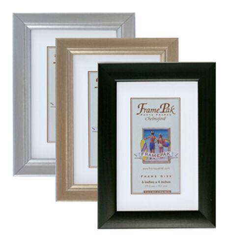 3//4 cadre photo en noir or ou argent 29 tailles avec le verre ou plastique