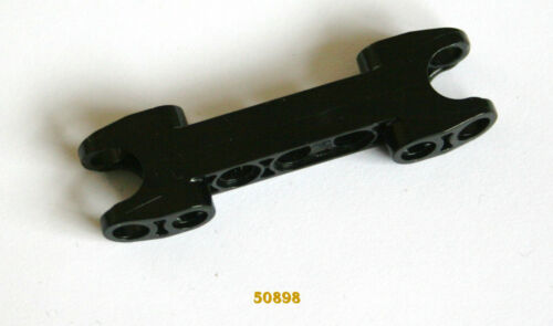 LEGO Technic Spare: 50898 Connector Beam 5 x 2 wt 2 skts ln Black