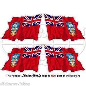 FALKLAND ISLANDS Civil Ensign Flying Flag UK Malvinas FALKLANDS 50mm Stickers x4