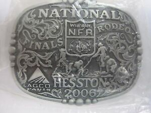 Hesston Belt Buckle 2006 National Finals Rodeo Youth Size New FREE SHIPPING
