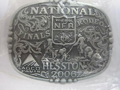 Small NFR Cowboy Buckle New AGCO PCRA National Finals Rodeo Hesston 2008 Youth