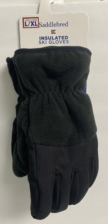 Saddlebred Ski Gloves Fleece Insulated Size L/XL Black Retails