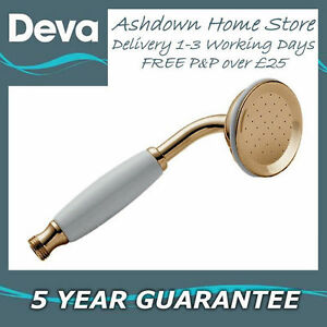 "Deva HANS03/G 3"" Gold Traditional Watering Can Shower Head Handset"