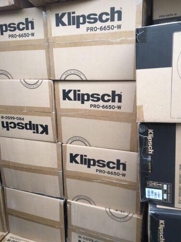 Klipsch PRO-6650-W Speakers  In Wall 5.1 With  rc52 cener surround sound