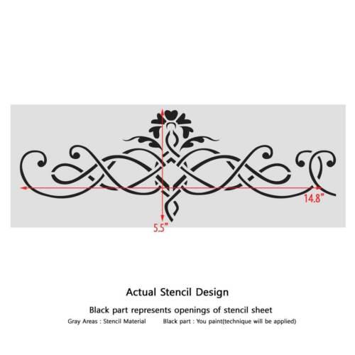 Pared stencil patrón clásico elegante de frontera 097 Plantilla para Hazlo tú mismo Decoración Reutilizable