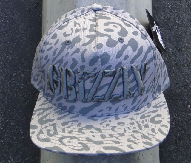 84ac47671 Grizzly Griptape X Supply Co. Trippy Trail Mens Gray Snapback Hat