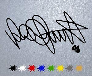 2019 Nouveau Style Sticker Pegatina Decal Vinyl Valentino Rossi Signature