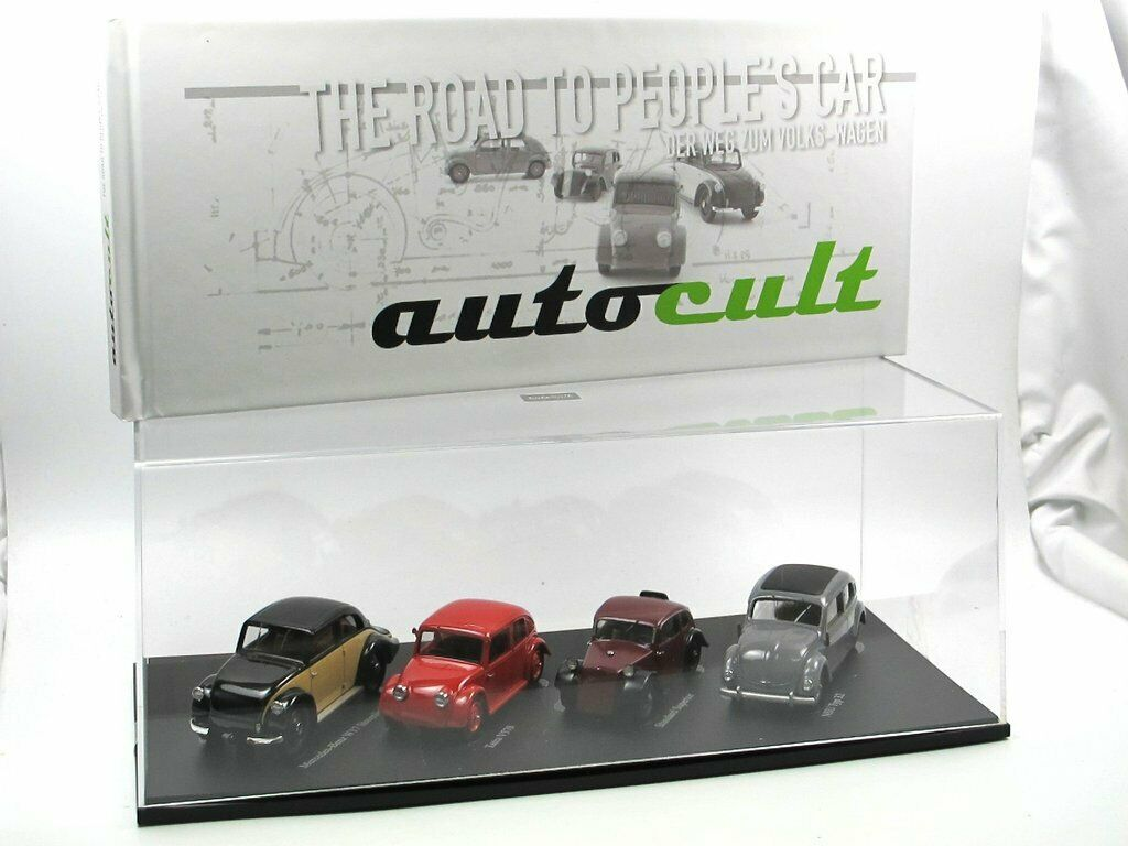 Autocult 4-pcs. set volksmotorisierung Road to people's Car NSU, tatra, MB 1 43