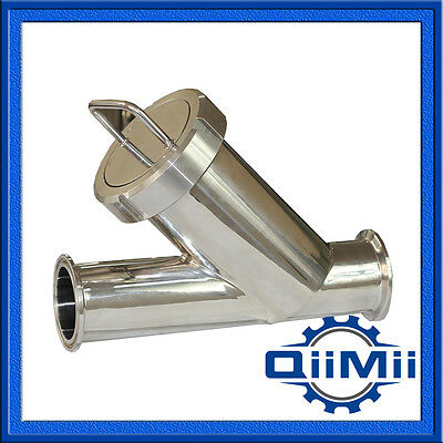 """11//2/"""" SS304 Tri Clamp Y Type Filter Sanitary Stainless Steel Strainer 100 Mesh"""