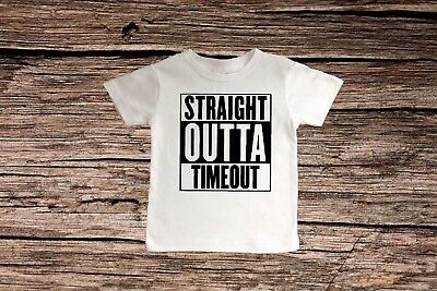 Boys T-shirt~Infant shirt~STRAIGHT OUTTA TIMEOUT~Toddler Clothes~infant Creeper