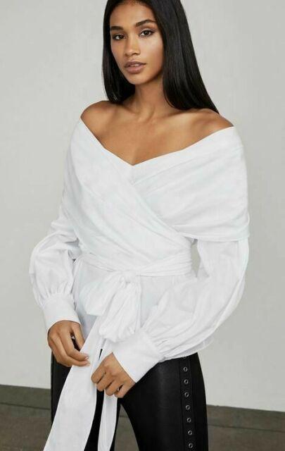 BCBGMAXAZRIA Womens Sabbie Woven Crushed Velvet Off The Shoulder Top