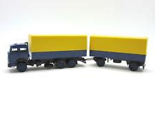 gelb//blau Herpa 309578-1//87 Iveco Magirus Planen//Hängerzug Neu