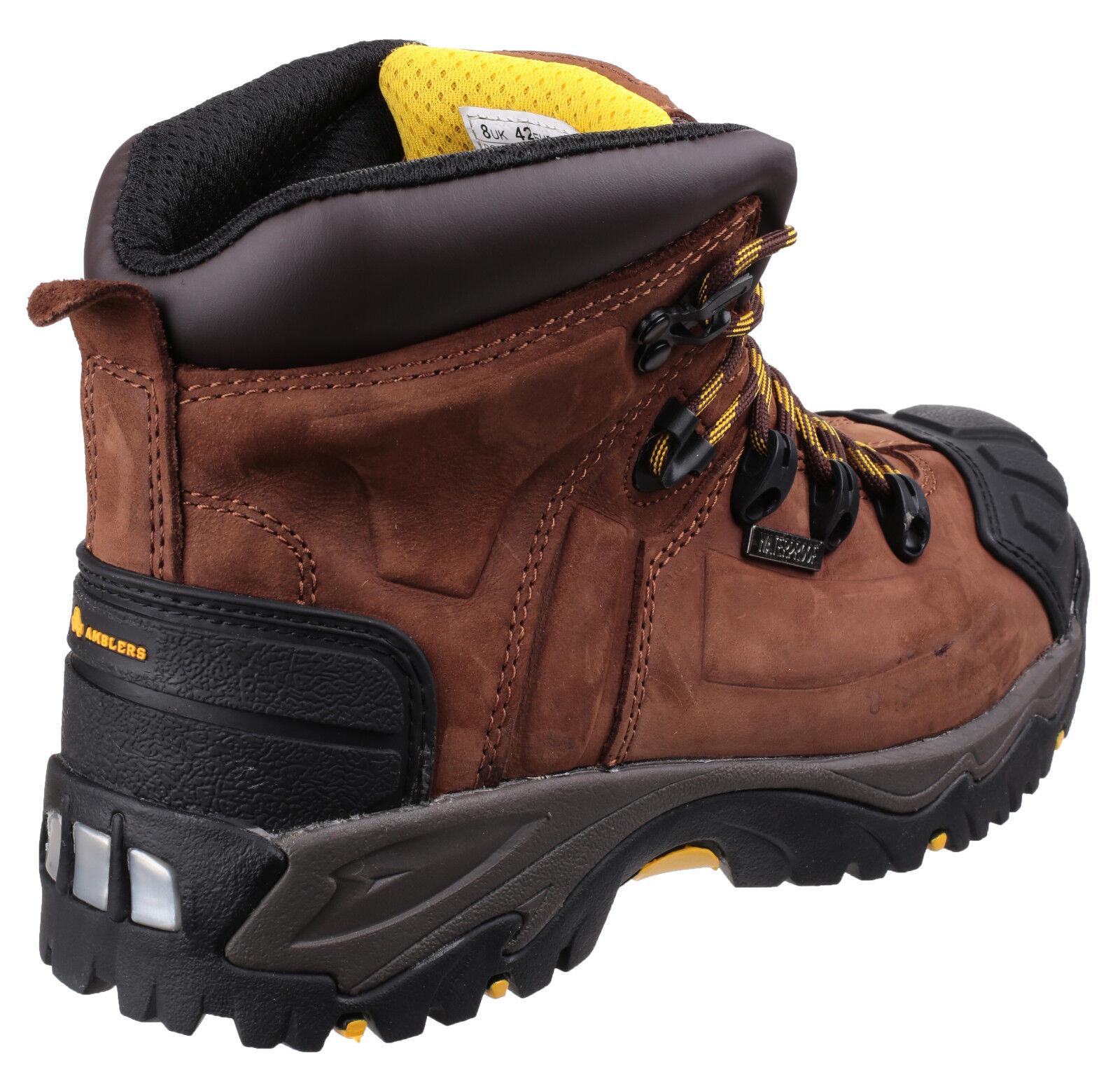 amblers embout fs39 embout amblers de sécurité étanches   Marron  uk6-15 acier bottes souliers 4bd945