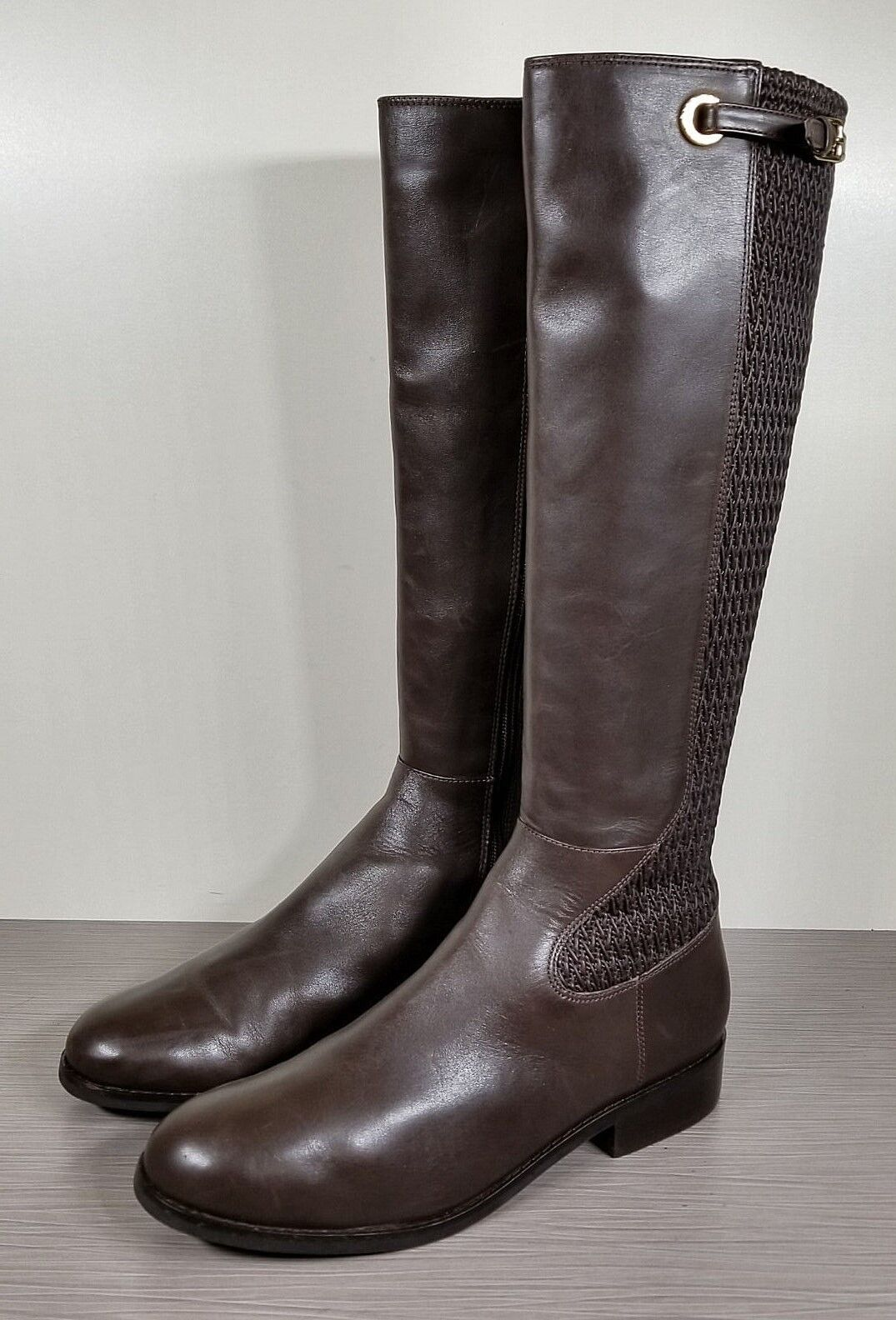 Cole Haan Simona Tall Boot, Java Leather, Womens Size 10 B
