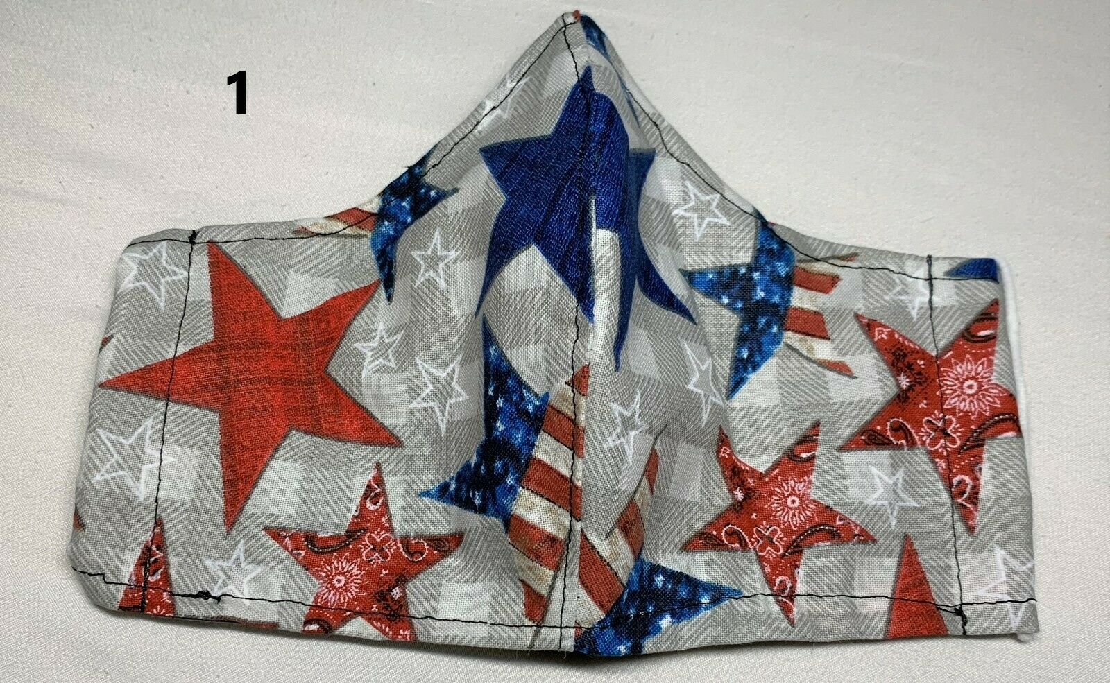 Patriotic 100% cotton -easy to talk,reusable 3Layer,pocket,nose wire kid/adult