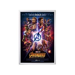 snapezo movie poster frame 27x40 inches silver 1 2 aluminum profile front 696226541757 ebay. Black Bedroom Furniture Sets. Home Design Ideas