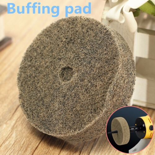 "3/"" (75mm)Nylon Fiber Round Polishing Polisher Buffing Pad Mop Wheel For Rotary"