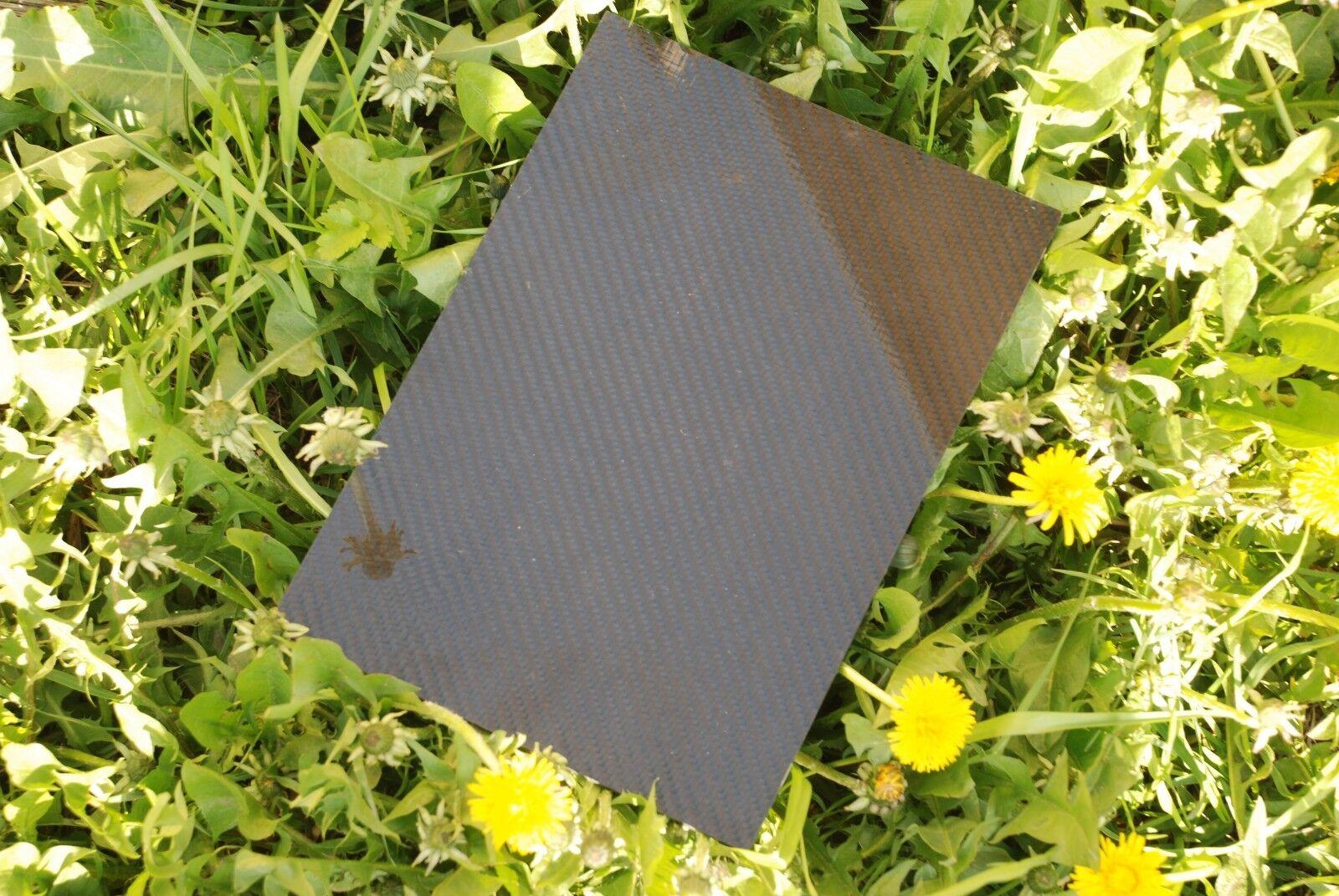Carbon Fiber 3mm feet x feet Sheet 100% Carbon x1 Twill weave Finland